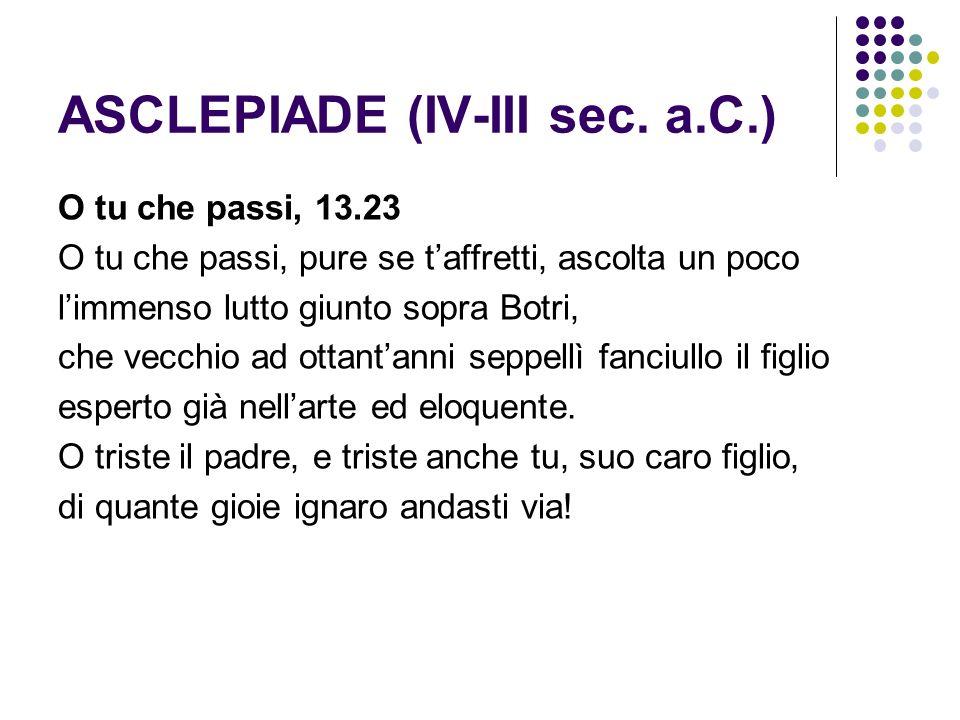 ASCLEPIADE (IV-III sec. a.C.)