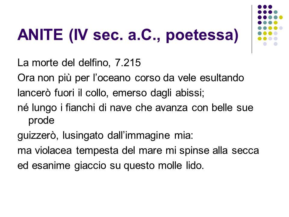 ANITE (IV sec. a.C., poetessa)