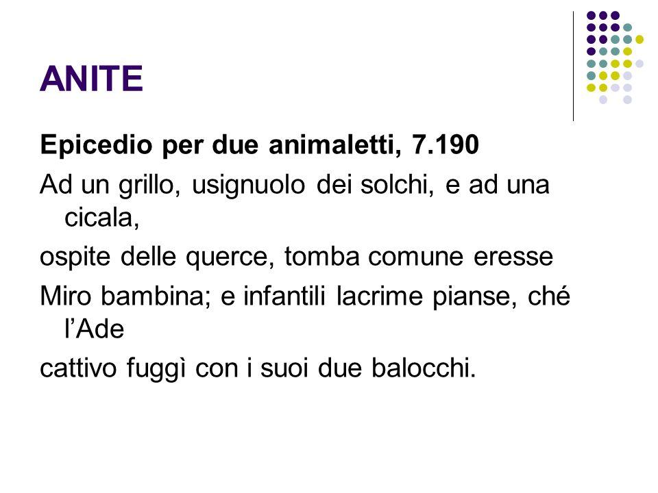 ANITE Epicedio per due animaletti, 7.190