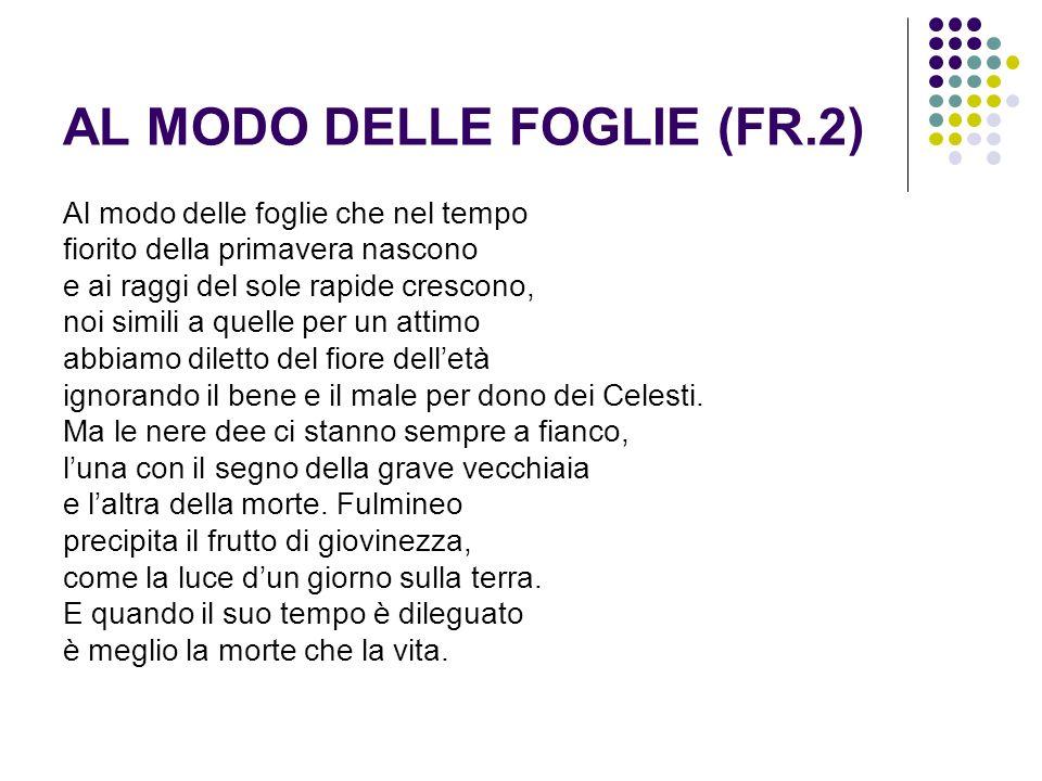AL MODO DELLE FOGLIE (FR.2)