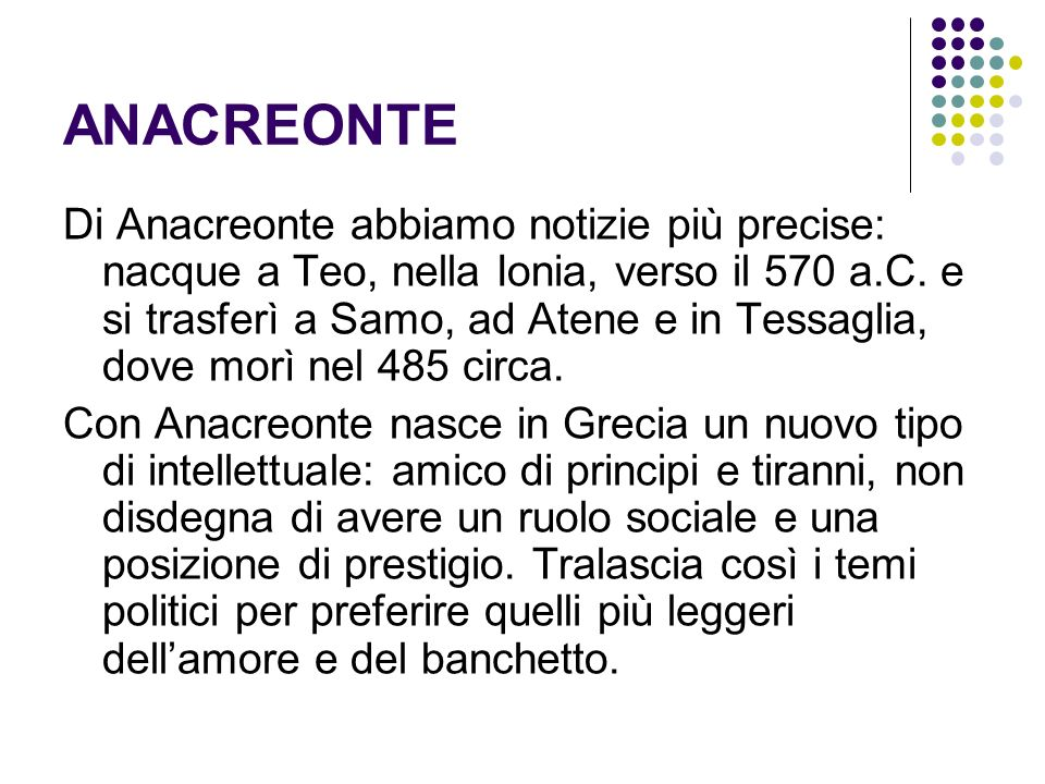 ANACREONTE