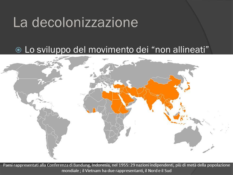 La decolonizzazione Lo sviluppo del movimento dei non allineati