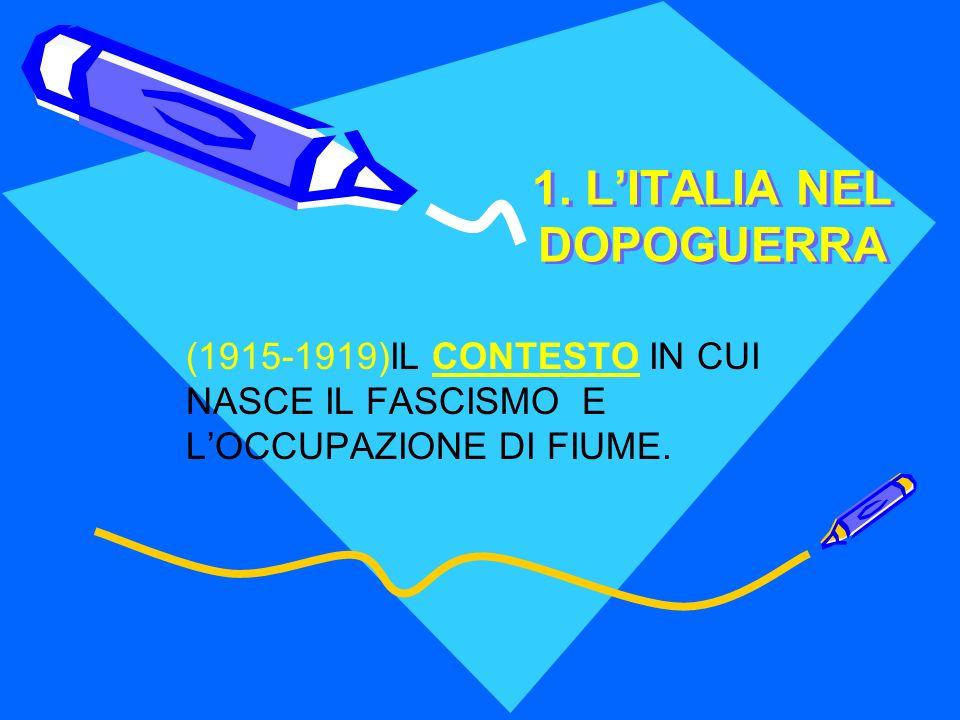 1. L'ITALIA NEL DOPOGUERRA
