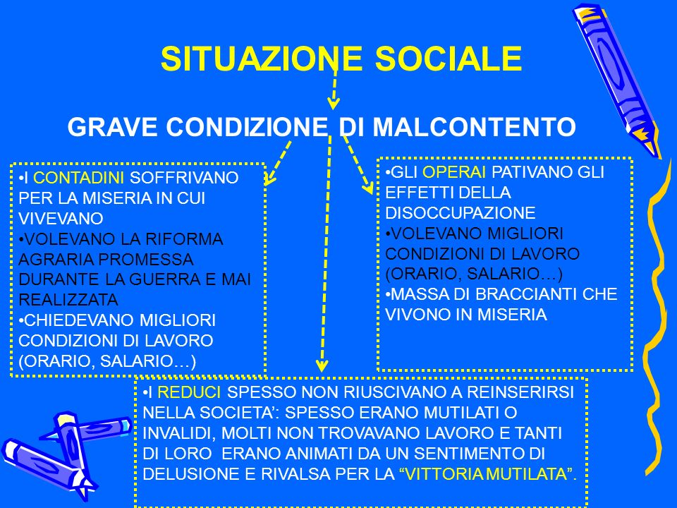 GRAVE CONDIZIONE DI MALCONTENTO
