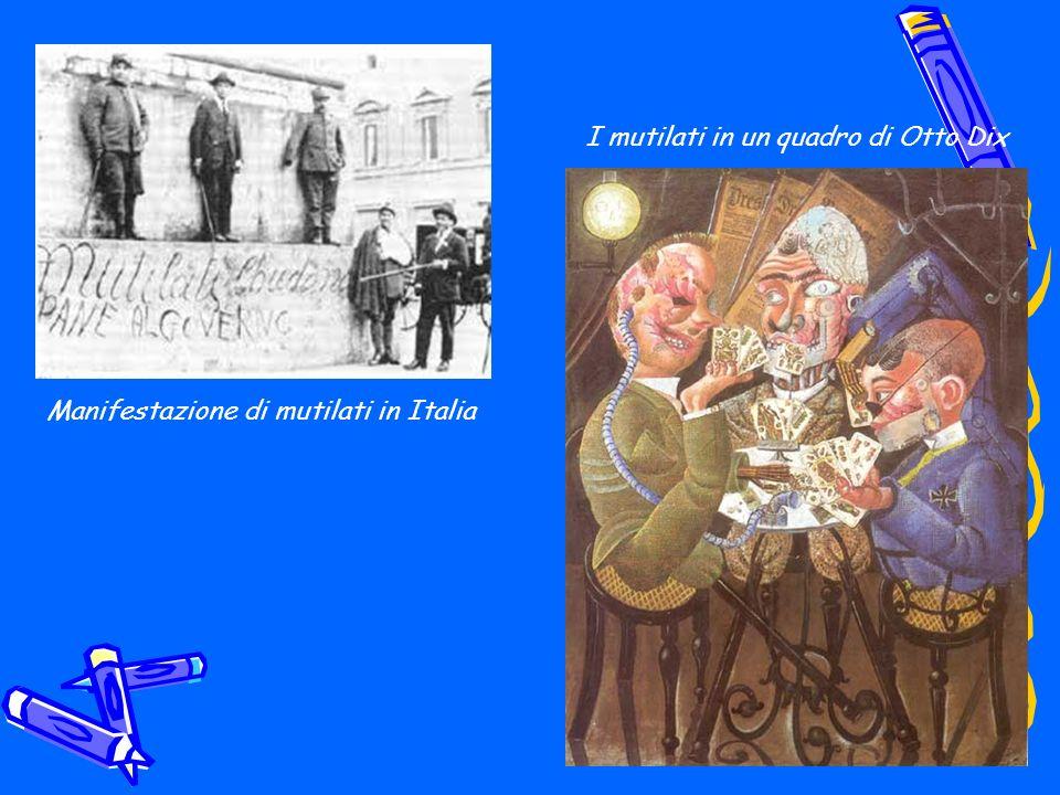 I mutilati in un quadro di Otto Dix