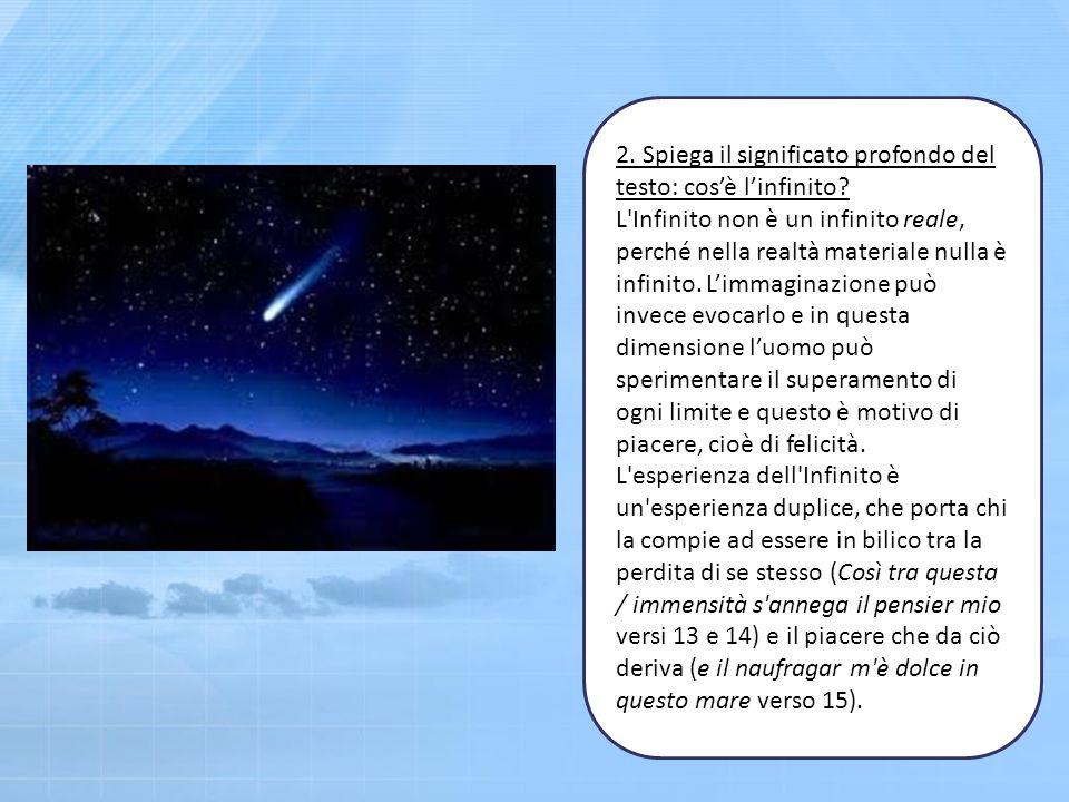 2. Spiega il significato profondo del testo: cos'è l'infinito
