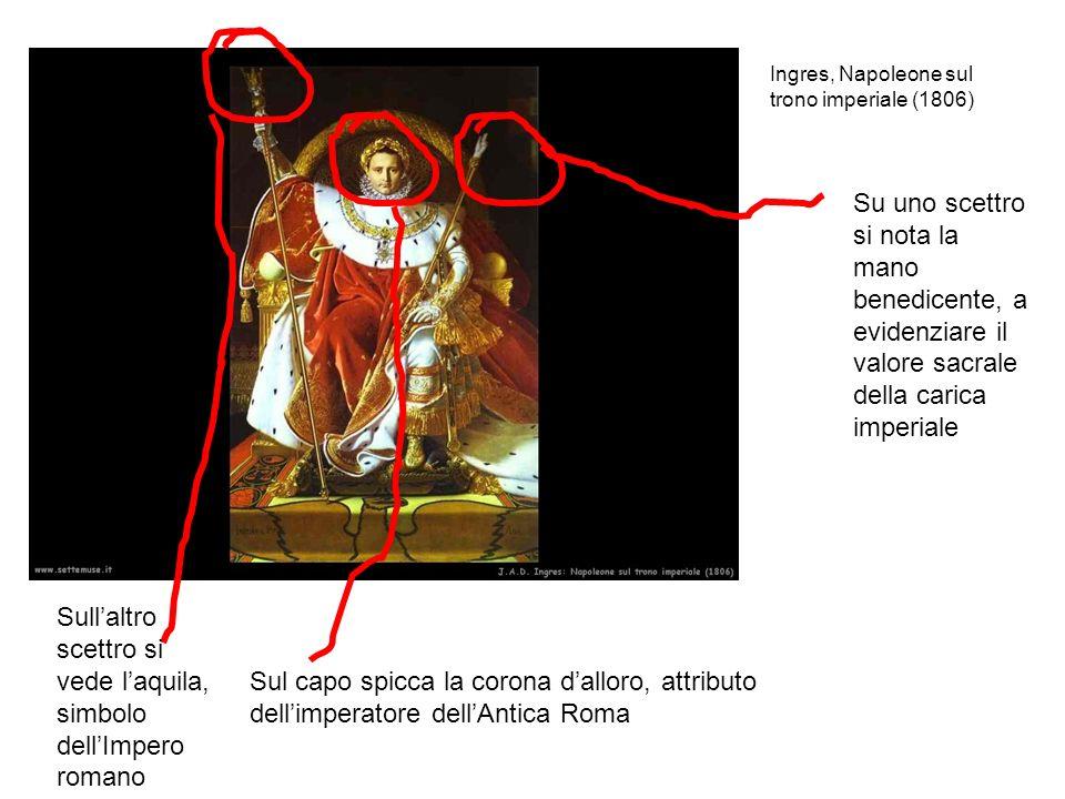 Sull'altro scettro si vede l'aquila, simbolo dell'Impero romano