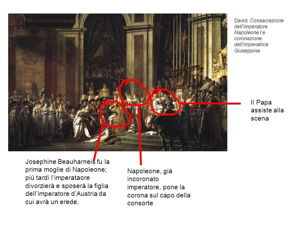 Il Papa assiste alla scena