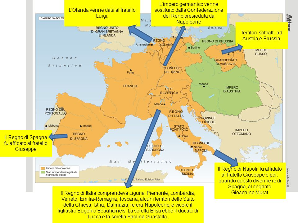 L'Olanda venne data al fratello Luigi.