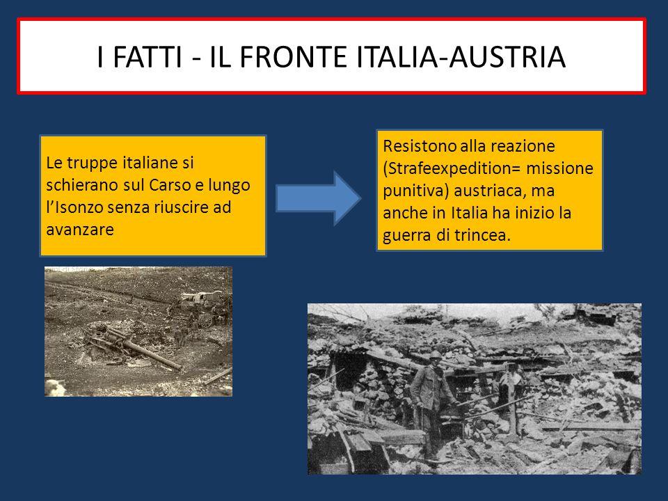 I FATTI - IL FRONTE ITALIA-AUSTRIA