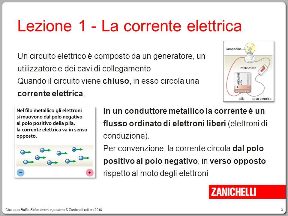 Lezione 1 - La corrente elettrica