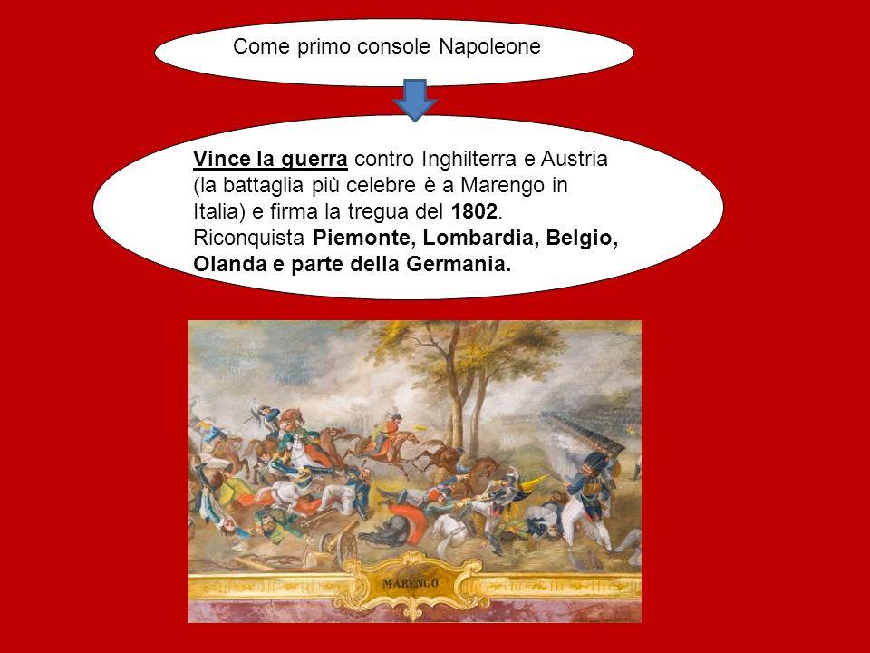 Come primo console Napoleone