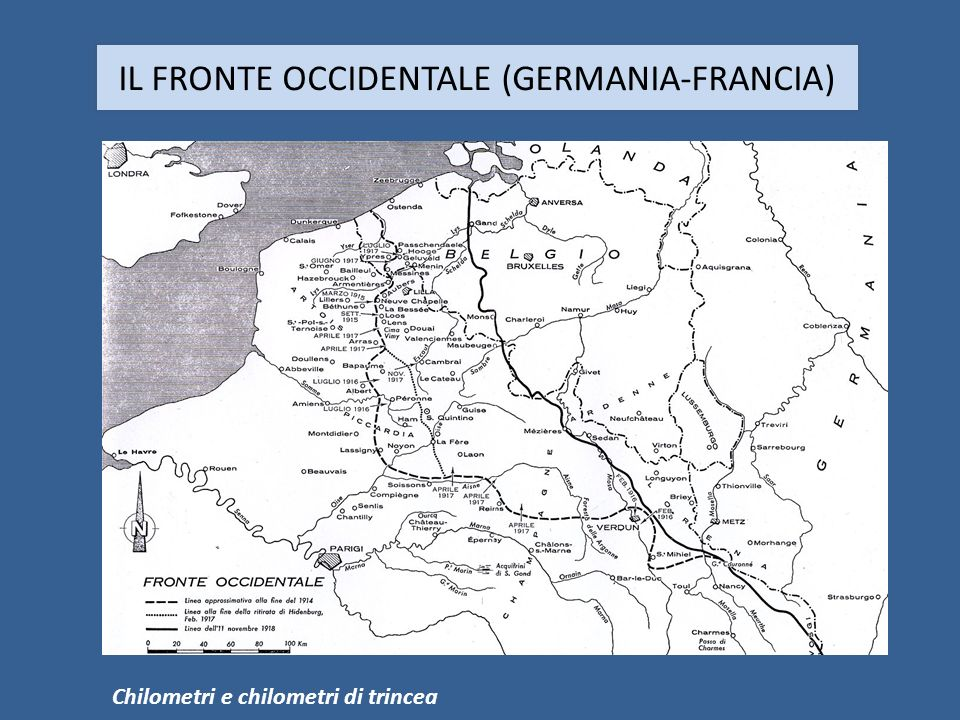 IL FRONTE OCCIDENTALE (GERMANIA-FRANCIA)