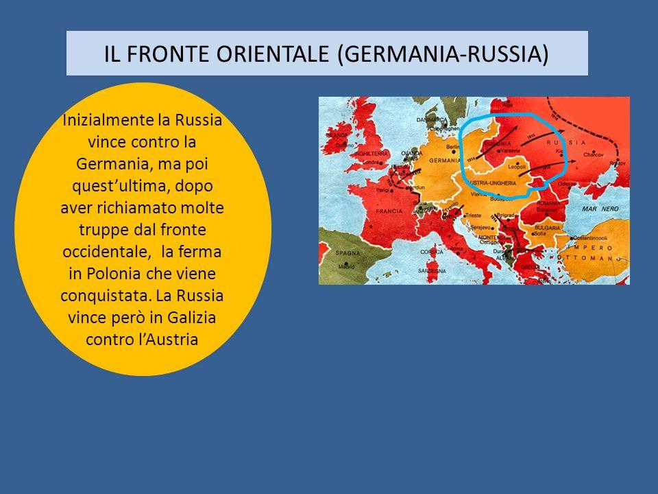 IL FRONTE ORIENTALE (GERMANIA-RUSSIA)