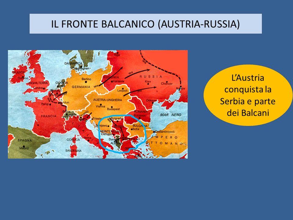 IL FRONTE BALCANICO (AUSTRIA-RUSSIA)