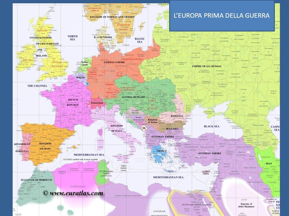 L'EUROPA PRIMA DELLA GUERRA