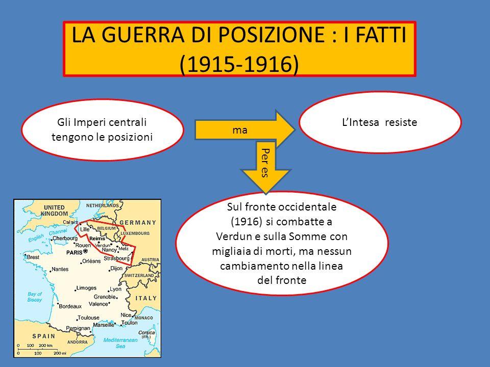LA GUERRA DI POSIZIONE : I FATTI (1915-1916)