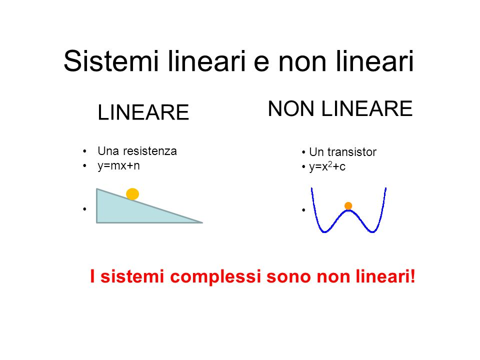Sistemi lineari e non lineari
