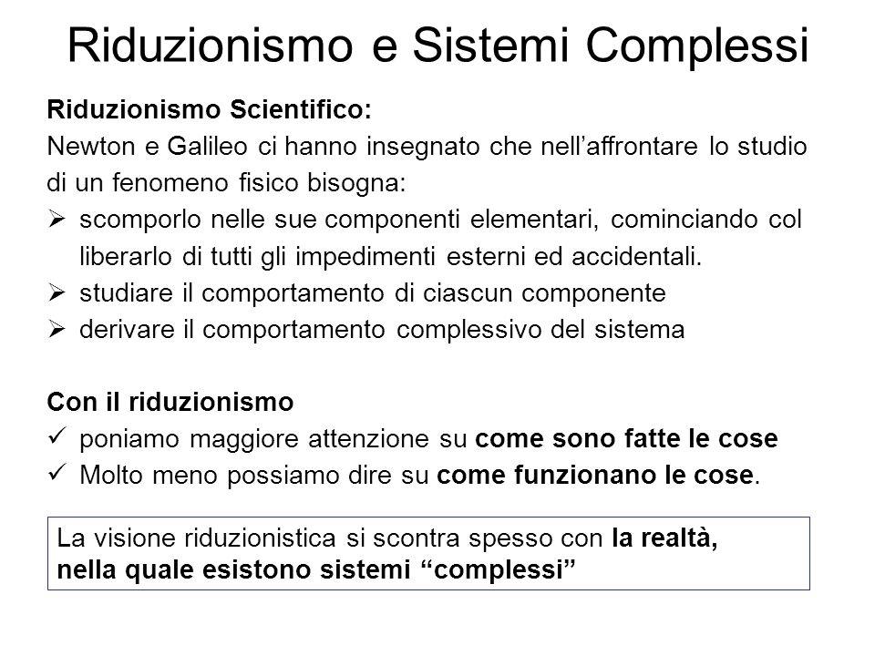 Riduzionismo e Sistemi Complessi