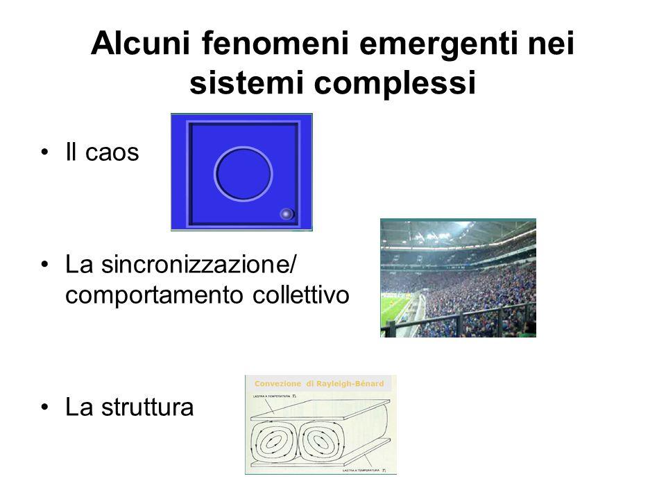 Alcuni fenomeni emergenti nei sistemi complessi