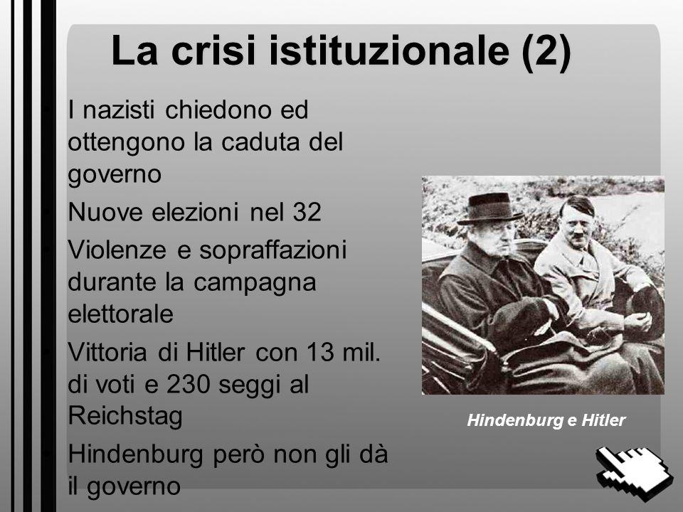 La crisi istituzionale (2)