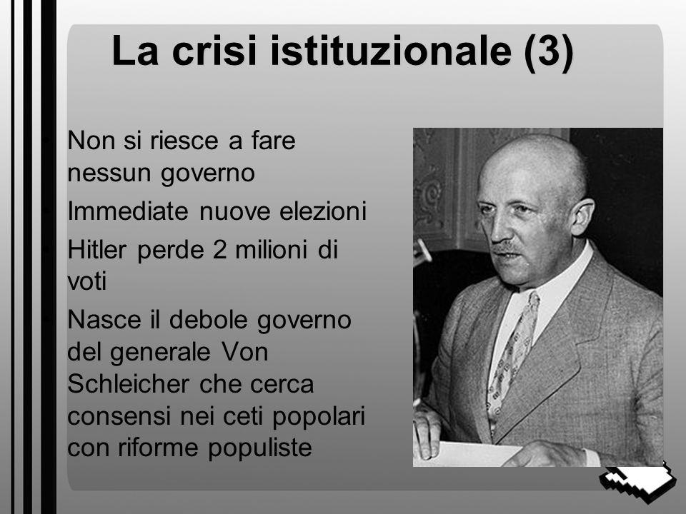 La crisi istituzionale (3)