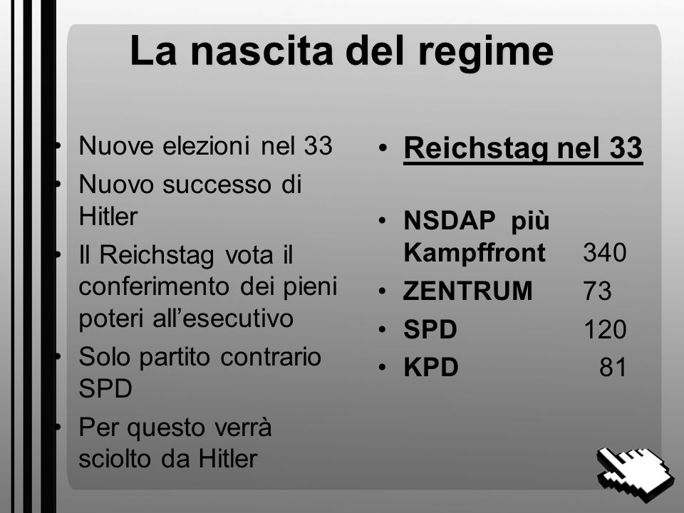 La nascita del regime Reichstag nel 33 Nuove elezioni nel 33