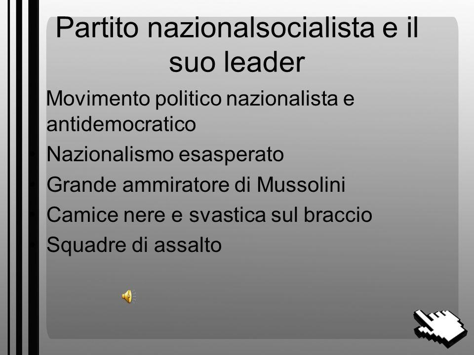 Partito nazionalsocialista e il suo leader