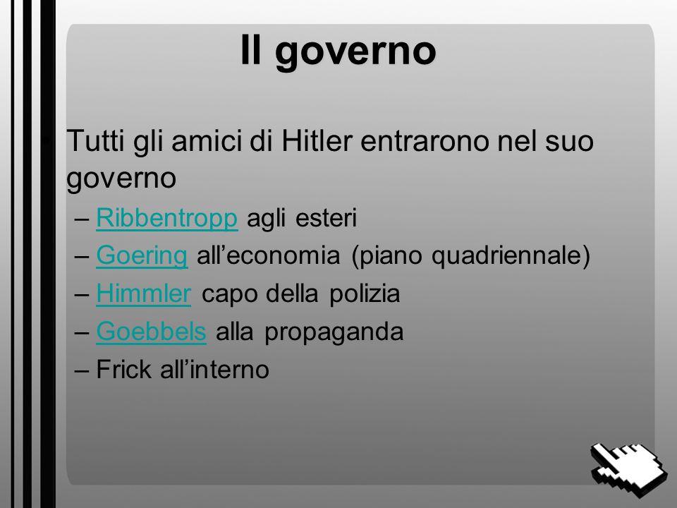 Il governo Tutti gli amici di Hitler entrarono nel suo governo