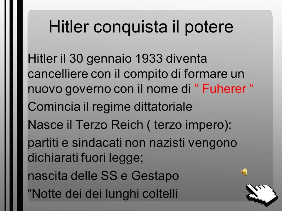 Hitler conquista il potere