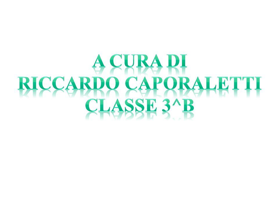 A cura di riccardo caporaletti Classe 3^B