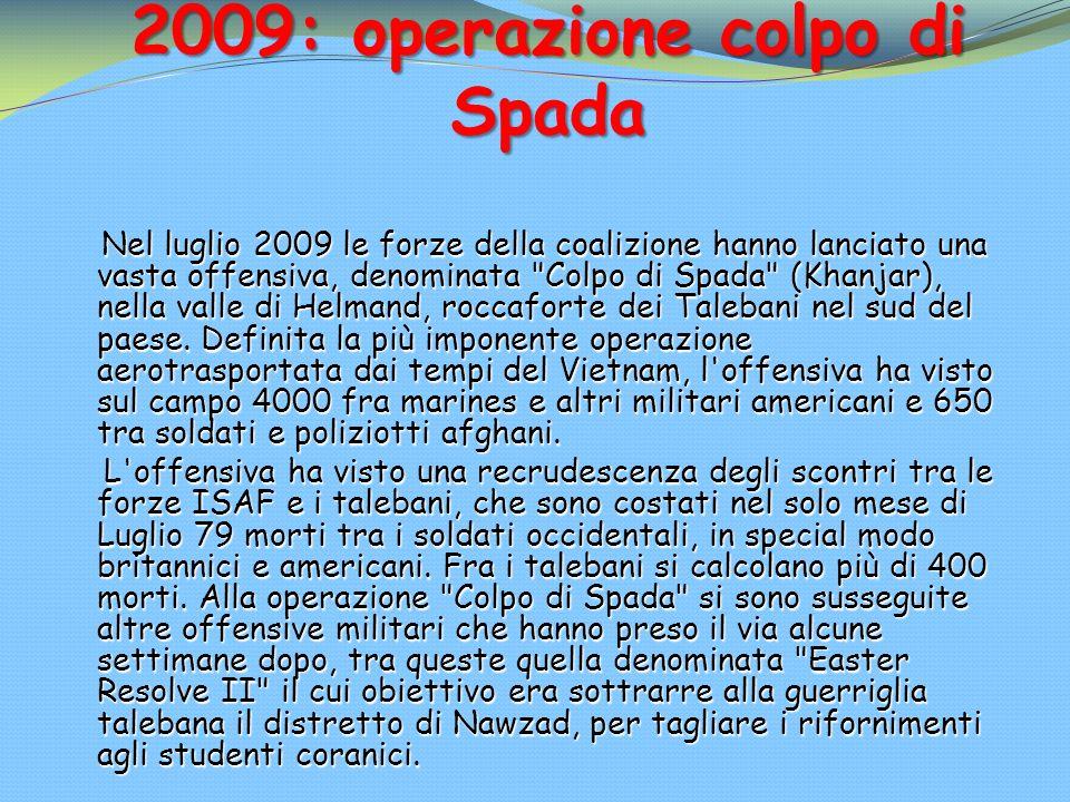 2009: operazione colpo di Spada