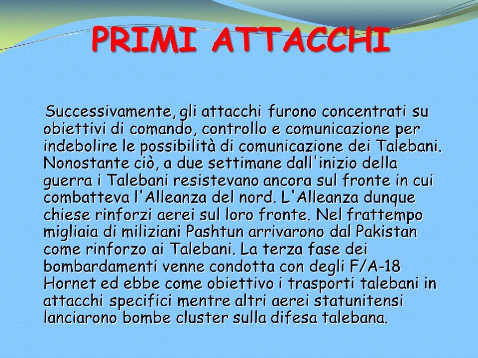PRIMI ATTACCHI