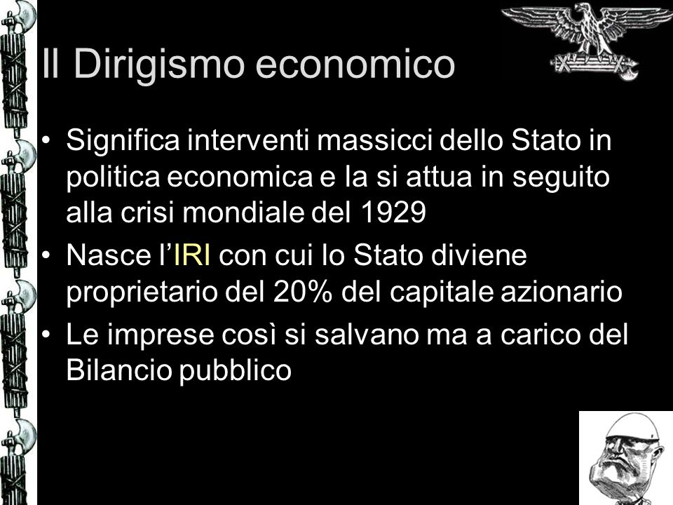 Il Dirigismo economico