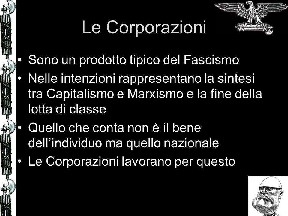 Le Corporazioni Sono un prodotto tipico del Fascismo