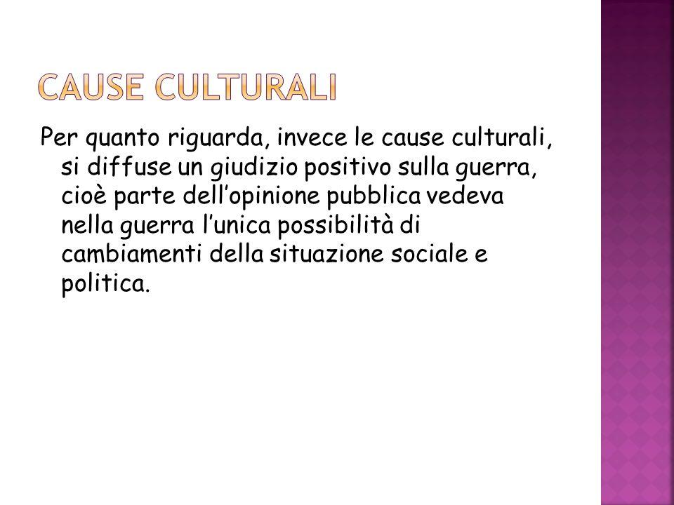 CAUSE CULTURALI