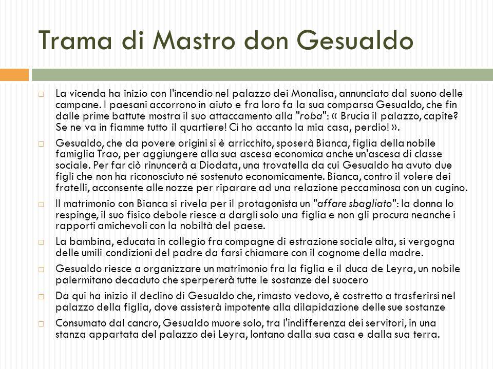 Trama di Mastro don Gesualdo