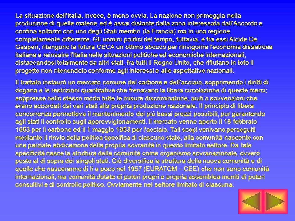 La situazione dell Italia, invece, è meno ovvia