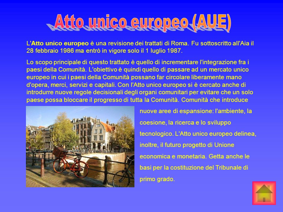 Atto unico europeo (AUE)