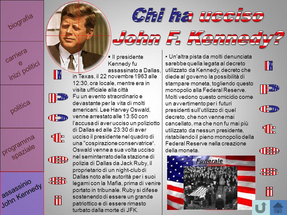 Chi ha ucciso John F. Kennedy Ipotesi Ipotesi . biografia carriera