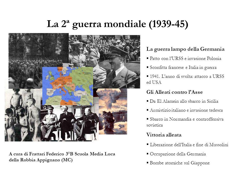 La 2ª guerra mondiale (1939-45)