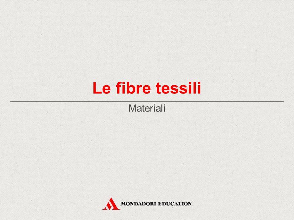 Le fibre tessili Materiali *