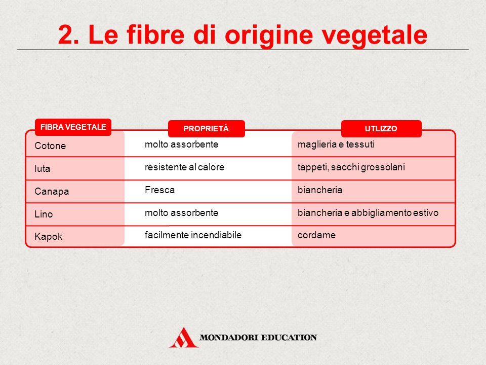 2. Le fibre di origine vegetale