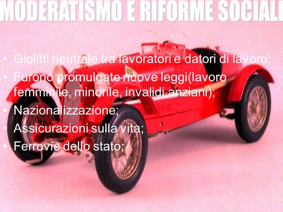 MODERATISMO E RIFORME SOCIALI