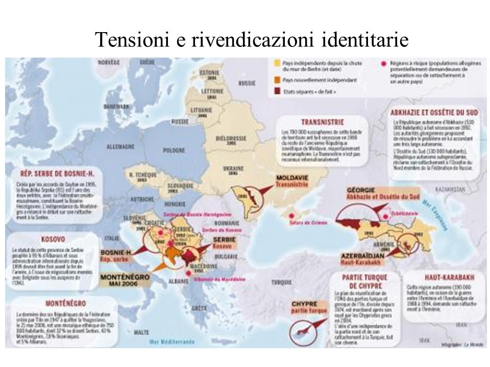 Tensioni e rivendicazioni identitarie