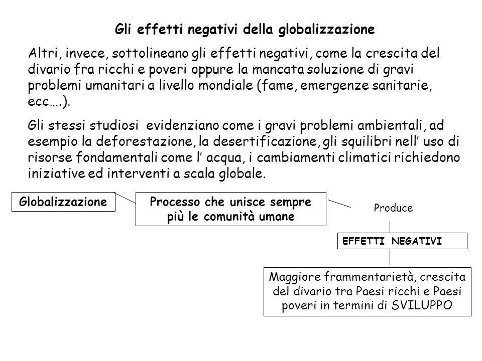 Gli effetti negativi della globalizzazione