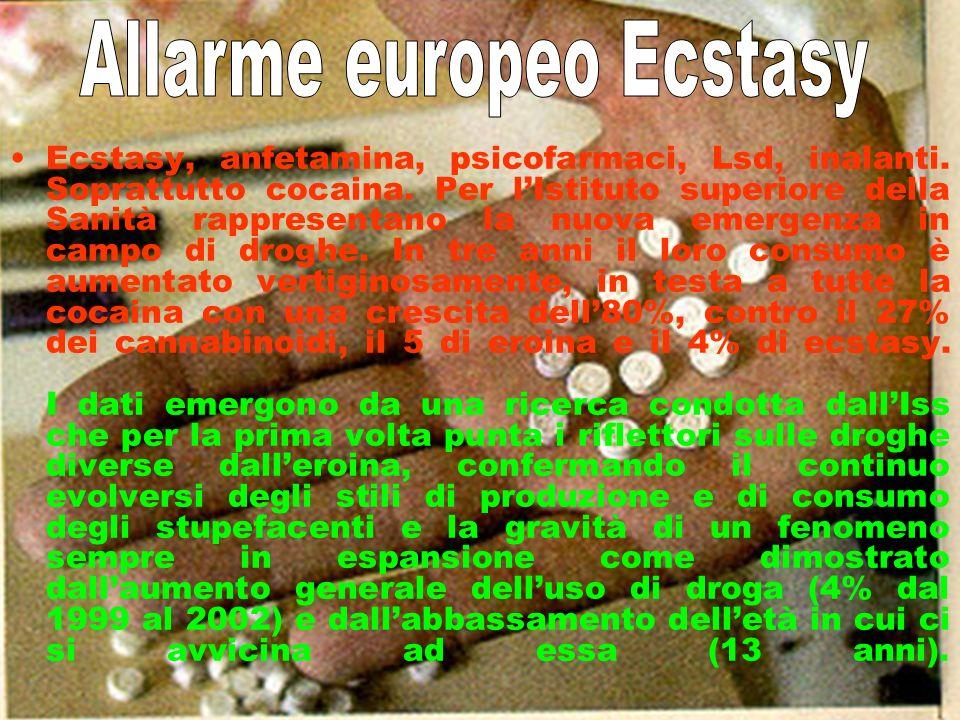 Allarme europeo Ecstasy