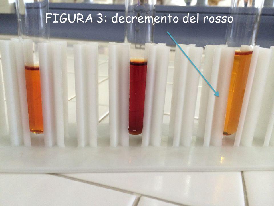 FIGURA 3: decremento del rosso