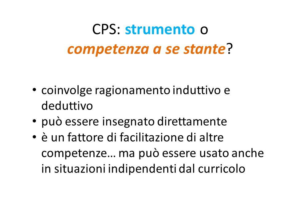 CPS: strumento o competenza a se stante