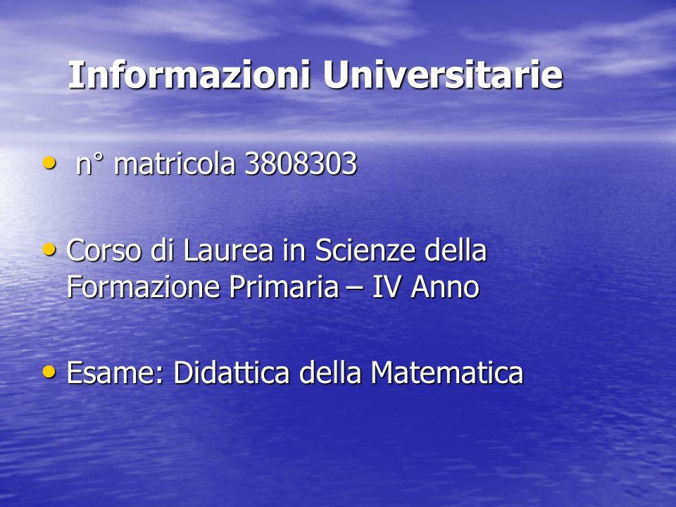 Informazioni Universitarie